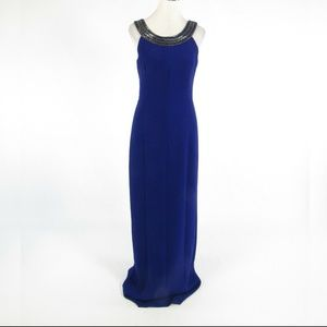 Badgley Mischka purple maxi dress 6